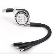 Универсальный кабель для зарядки 3 в 1 (Черный)