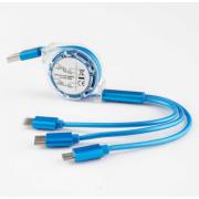 Универсальный кабель для зарядки 3 в 1 (Синий)
