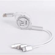 Универсальный кабель для зарядки 3 в 1 (Белый)