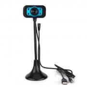 Веб-камера с микрофоном для компьютера В21 (Черно-синяя)
