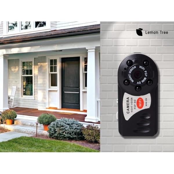 Мини-видеокамера Wi-Fi Camera Q7 2 мегапикселя Lemon Tree (черный)