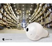 Панорамная беспроводная ip камера Lemon Tree Wi-Fi лампочка v380s 2 мегапикселя (Белый)