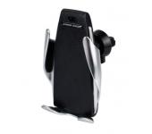 Автомобильный держатель с беспроводной зарядкой Qi SmartSensor S5 в воздуховод (Черный)