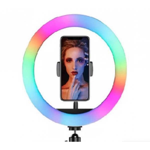 Цветная кольцевая лампа WH32 для профессиональной съемки, с дистанционным RGB пультом, диаметр лампы 32 см