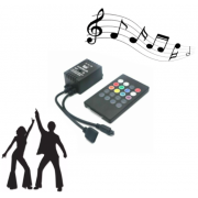 Инфракрасный музыкальный светодиодный контроллер ir controller (Черный)