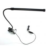 Лампа настольная светодиодная с прищепкой и гибкой ножкой 3 режима (Черная)