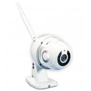 Панорамная уличная 360 градусов Wi-Fi Smart IP Camera 1080p с детектором движения V380 (Белая)