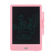 Планшет для рисования с цветным LCD 10-дюймовым экраном (Розовый)
