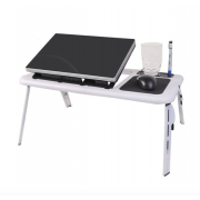Портативный столик для ноутбука с охладителем E-Table (Черно-белый)