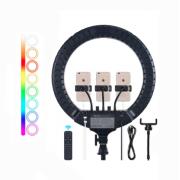 Профессиональная цветная кольцевая лампа RL-18 RGB 45 см