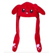 Шапка с поднимающимися ушками (Красная)