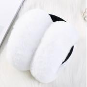Складывающиеся меховые наушники (Белые)