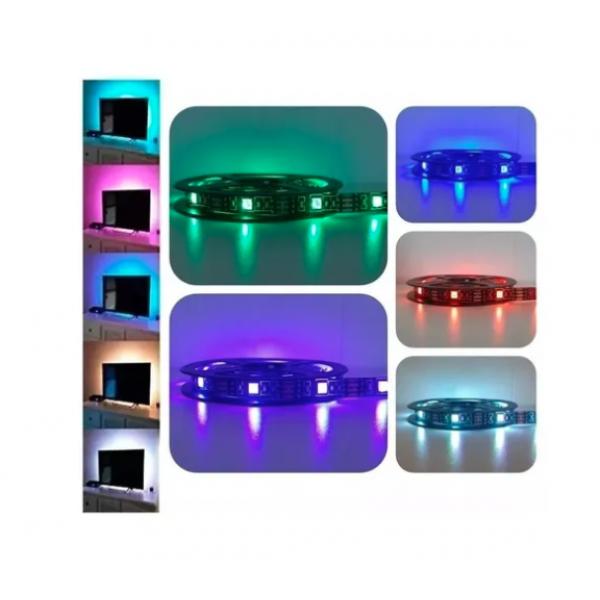 Светодиодная лента Soliter Light Belt USB-LED Strip для кухни ванной корридора гостинной прихожей спальни подключение через USB пуль ДУ 16 цветов разные цвета влагостойкая IP65 12V 2 м