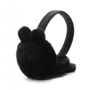 Зимние плюшевые наушники с ушками (Черные)
