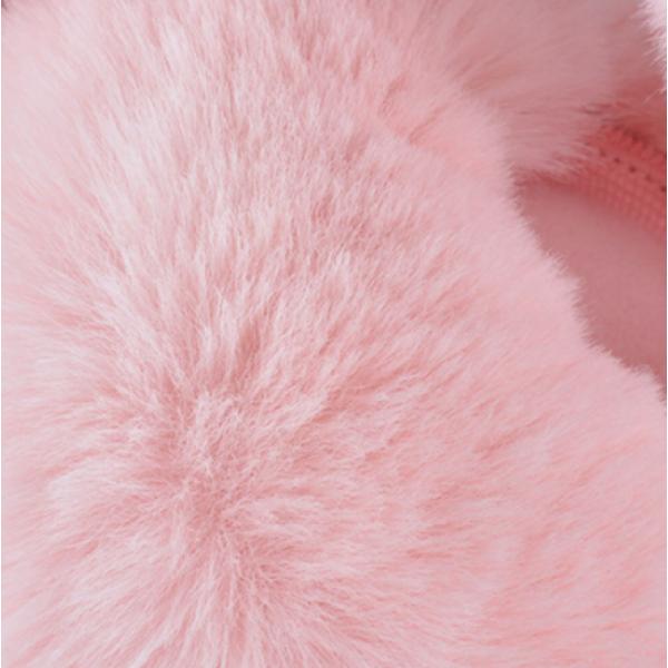 Зимние плюшевые наушники с блестящими ушками (Черные)