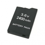 Аккумулятор для игровой приставки PSP 1000 Slim Replacement Battery Pack 3.6v 2400 mah (Черный)