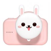Детская цифровая мини камера фотоаппарат Зайчик (Розовый)