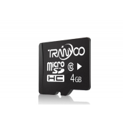 Карта памяти TranYoo C10 Micro SD класс 10, 4 Гб (Черная)
