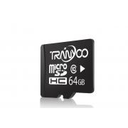 Карта памяти TranYoo C10 Micro SD класс 10, 64 Гб (Черная)