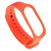 Ремешок силиконовый прозрачный для Xiaomi Mi Band 3/Mi Band 4 (оранжевый)