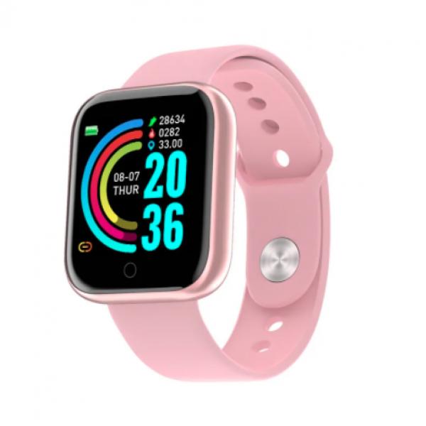 Смарт-часы Y68-2 (Розовые)