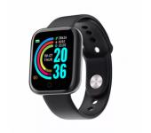 Смарт-часы Y68 с трекером активности, пульсометром и с измерением артериального давления (Черные)