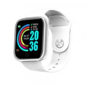 Смарт-часы Y68 с трекером активности, пульсометром и с измерением артериального давления (Белые)