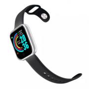 Смарт-часы Y68 с трекером активности, пульсометром и с измерением артериального давления (Серебряные)