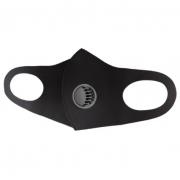 Защитная многоразовая маска с клапаном выдоха 1 шт (Черная)