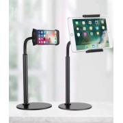 Универсальный гибкий настольный держатель для смартфона и планшета с поворотом на 360° (Черный)