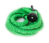Растягивающийся садовый шланг с насадкой-распылителем Magic hose 75 метров (Зеленый)