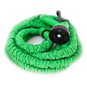 Растягивающийся садовый шланг с насадкой-распылителем Magic hose 60 метров (Зеленый)