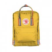 Рюкзак Fjallraven Kanken classic (Желтый с радужными ручками)