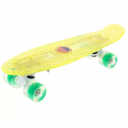 Скейтборд Warning c светящимися колесами (Желтый)