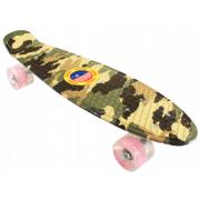 Скейтборд Warning c светящимися колесами (Камуфляж)