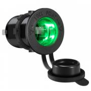 Разъем Прикуривателя в авто врезной 12V-24V GH-C5 LED (Зеленый)