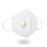 Защитная маска-респиратор с клапаном KN95 (Белая)