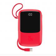 Портативный аккумулятор Baseus Qpow Digital Display 3A Power Bank 10000mAh With Type-C Cable PPQD-A09 (Красный)
