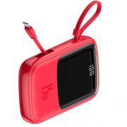 Внешний аккумулятор Baseus Q pow Digital Display 3A Power Bank 10000mAh With IP Cable PPQD-B09 (Красный)
