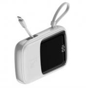 Внешний аккумулятор Baseus Q pow Digital Display 3A Power Bank 10000mAh With IP Cable PPQD-B02 (Белый)