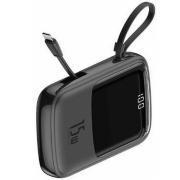 Внешний аккумулятор Baseus Q pow Digital Display 3A Power Bank 10000mAh With IP Cable PPQD-B01 (Черный)
