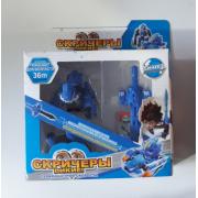 Машинка трансформер Скричер (Синяя)