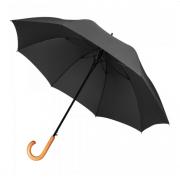 Зонт трость Rainbow диаметр купола 95 см деревянная ручка (Черный)