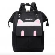 """Подростковый рюкзак Mimi girl """"Котик с ушками"""" (Черный)"""
