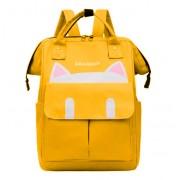 """Подростковый рюкзак Mimi girl """"Котик с ушками"""" (Желтый)"""