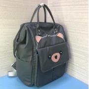 Рюкзак Fairy Bag из прочного с нашивкой (Серый)