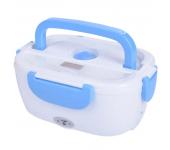Контейнер для еды с подогревом Electronic Lunch Box от сети 220В (Голубой)