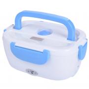 Ланч бокс с подогревом от прикуривателя контейнер для еды Car Electric Lunch Box (Голубой)