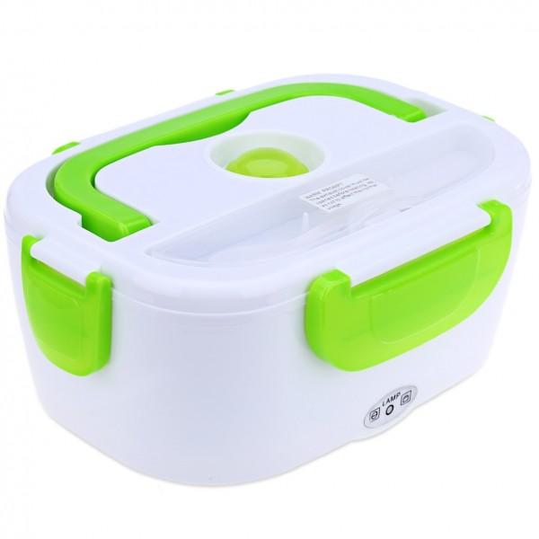 Ланч бокс с подогревом от прикуривателя контейнер для еды Car Electric Lunch Box (Зеленый)