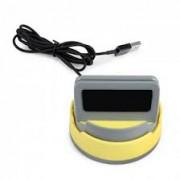 Многофункциональная Док-станция HOCO P3 Lightning Multifunctional Mobile Phone Holder (Серый с желтым)